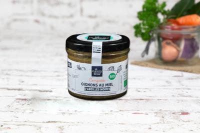 Compotée d'oignons au miel d'abeilles noires (100g)