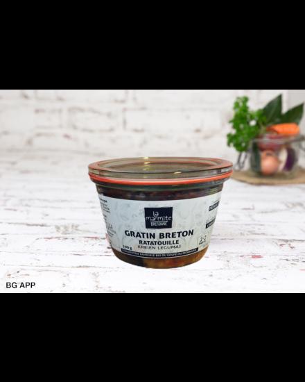 Ratatouille Weck au vinaigre de cidre de Carnac 290 g Conserverie artisanale de légumes Bio breton. La Marmite Bretonne. Plougoumelen. Golfe du Morbihan