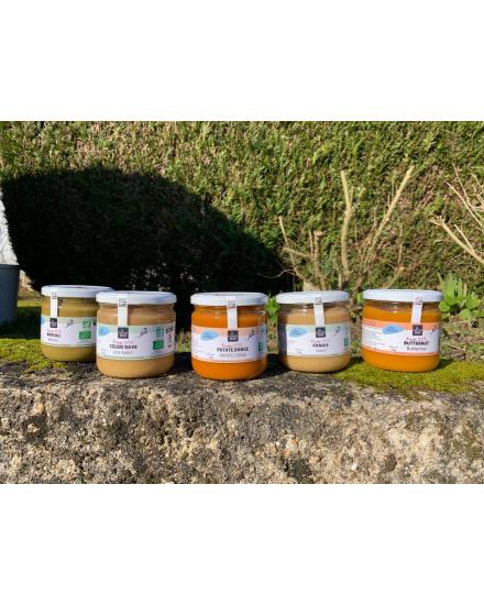 Pack Houat (Grandes soupes) Conserverie artisanale de légumes Bio breton. La Marmite Bretonne. Plougoumelen. Golfe du Morbihan