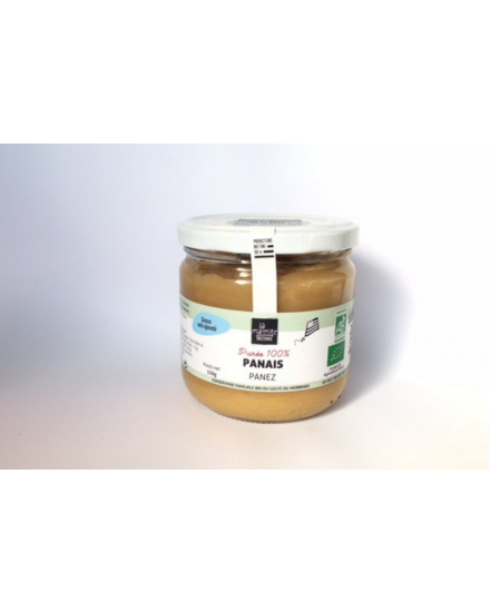 Purée bio de patate douce (330 g) Conserverie artisanale de légumes Bio breton. La Marmite Bretonne. Plougoumelen. Golfe du Morbihan