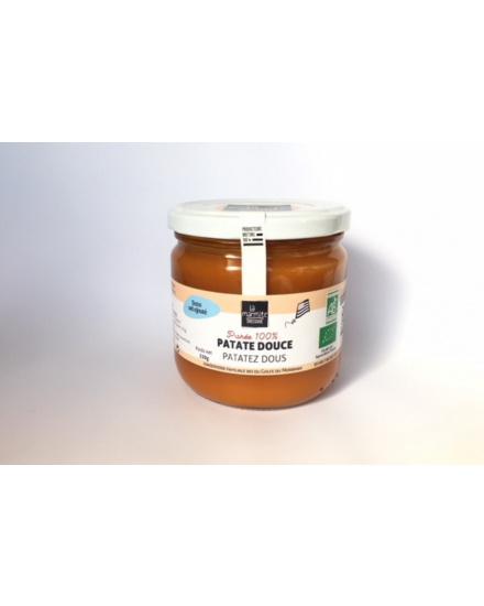 Purée bio de brocoli (330 g) Conserverie artisanale de légumes Bio breton. La Marmite Bretonne. Plougoumelen. Golfe du Morbihan