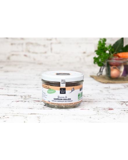 Graines de sarrasin grillées et salées (250 g) Conserverie artisanale de légumes Bio breton. La Marmite Bretonne. Plougoumelen. Golfe du Morbihan