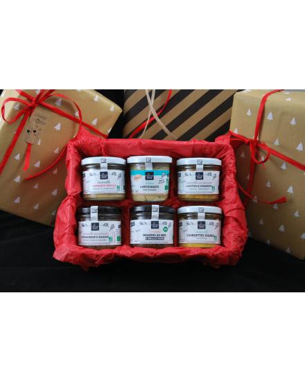 Pack apéritif Legumaj - Conserverie artisanale de légumes Bio breton. La Marmite Bretonne. Plougoumelen. Golfe du Morbihan - coffret cadeau tartinables